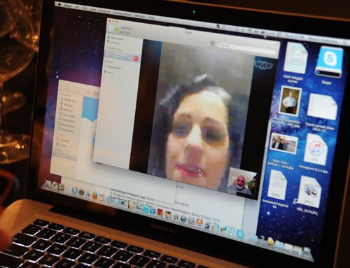 Wende connected with us on Skype.