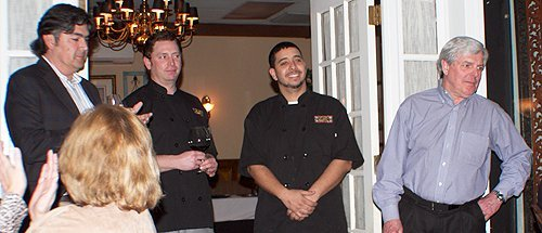 Gustavo, Craig and the evening's chefs got a round of applause from appreciative diners.