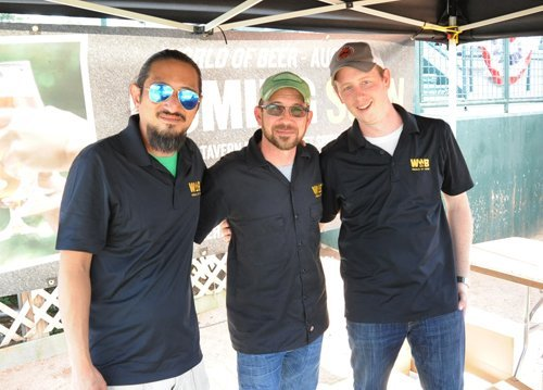 The World of Beer crew at the Augusta Craft Beer Festival. At right is GM Brett Matthews and in the middle is Jimmy Powell