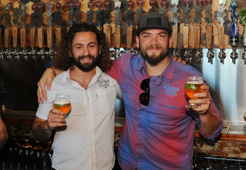 Wicked Weed Sales Reps Samer Sabbagh and Andy Bibliowicz where on hand to talk about their great brews