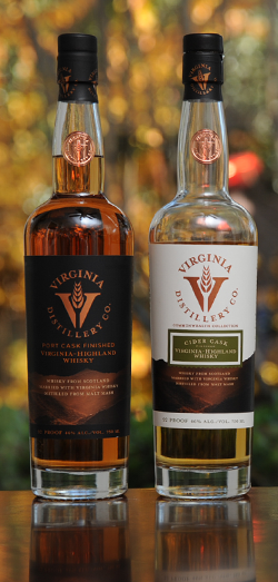 Port Cask and Cider Cask Virginia-Highland Whisky