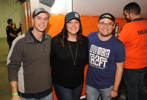 Andrew Strauss, Melanie Schmitz and Max Geiger of Columbia Craft Brewing Company