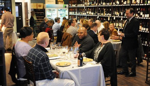 25 guests were treated to a seven-course meal paired with wines influence by Dave Phinney